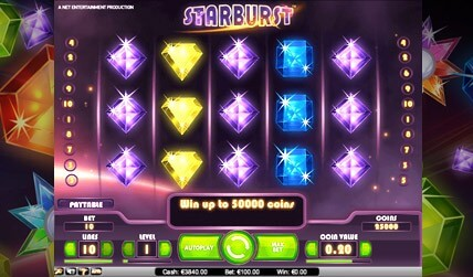 Starburst Slot screenshot 1