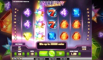 Starburst Slot screenshot 2